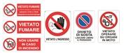 Cartello segnaletico divieto