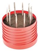 Kit frese rotative MD coniche 10 pz. AB99K2