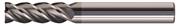 Fresa in metallo duro ad alte prestazioni TA1495, universale per tutti gli acciai, acciai inossidabili, superleghe e ghise, rivestita TOP TiAlN, elica 30°/45° a passo differenziato, 4 taglienti, per cave e contornature in sgrossatura e finiture