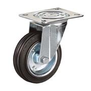 Ruota con nucleo in lamiera stampata e zincata, con supporto rotante X Line a piastra