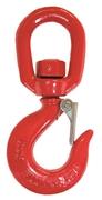 Gancio girevole di sollevamento al carbonio con sicura, acciaio C 40, certificato CE