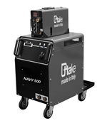 NAVY 500, saldatrice TIG, MMA, MIG-MAG, con accessori e trainafilo NAVY